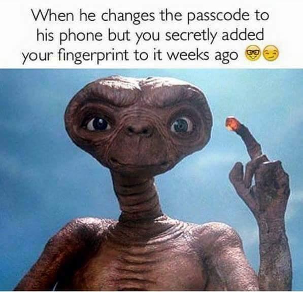 When he changes passcode Psycho girlfriend Meme