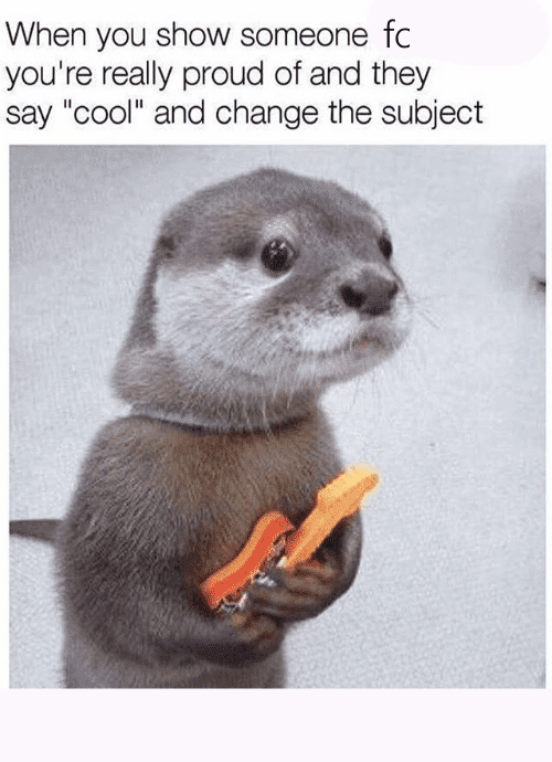 When you show someone Otter Meme