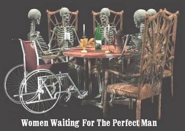 Women waiting for the perfect man Skeleton Meme