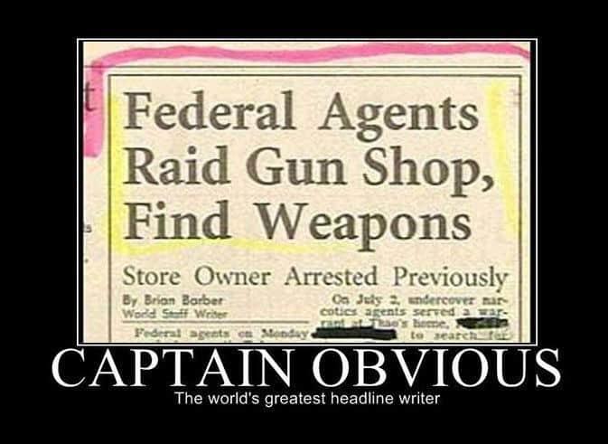 World's greatest writer Captain obvious Meme