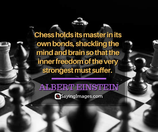 albert einstein chess quotes