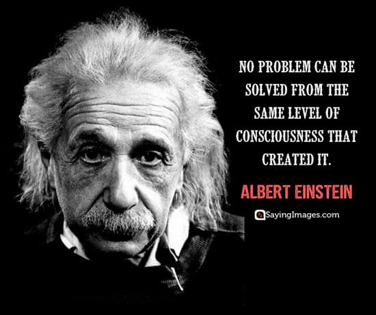 albert einstein perspective quote