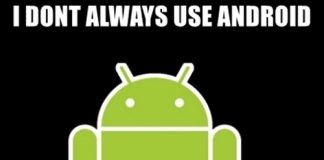 android i dont always use memes