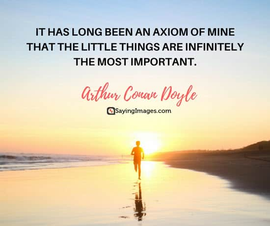 arthur conan doyle little things quotes