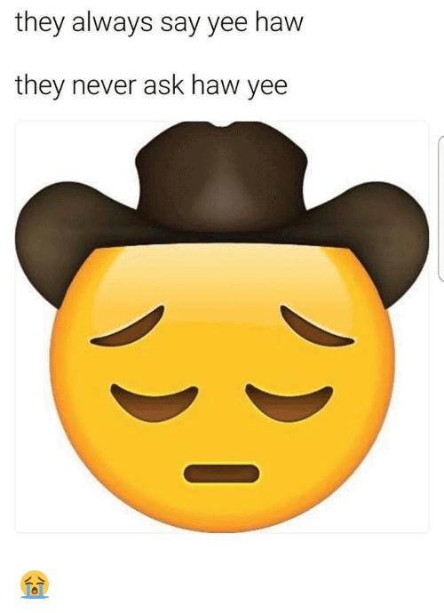 ask yeehaw meme
