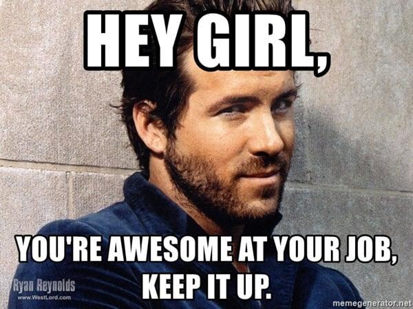 awesome hey girl meme