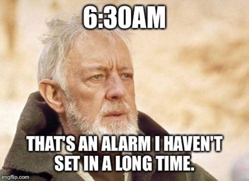 back to work alarm meme