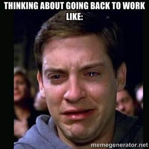 back to work thinking meme