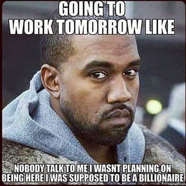 back to work tomorrow meme