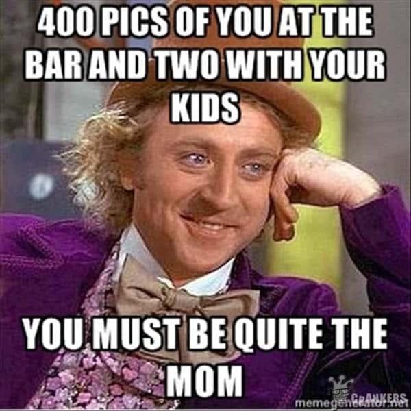bad mom at the bar meme
