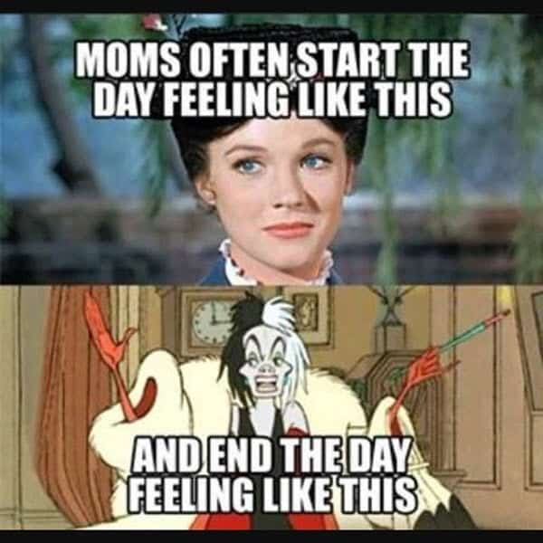 bad mom end of the day meme