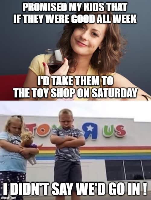 bad mom toy store meme