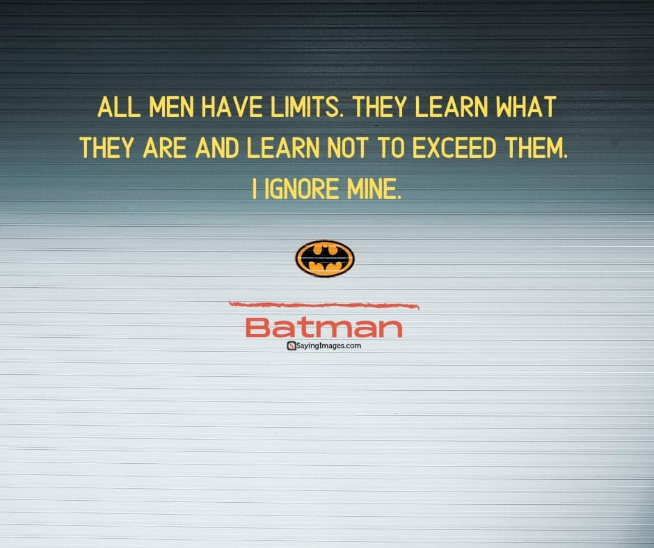 batman limits quotes