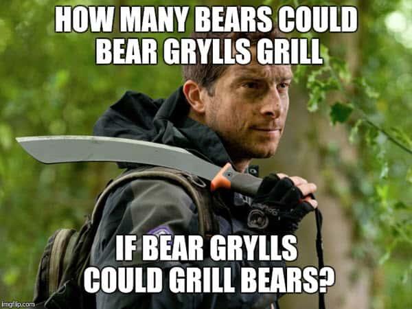 bear grylls how many meme