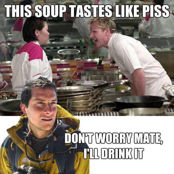 bear grylls this soup meme