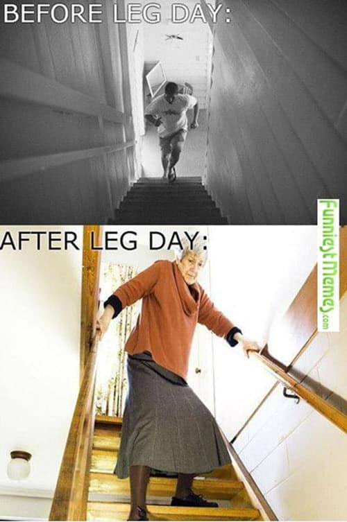 before and after leg day meme