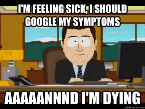 being sick google meme