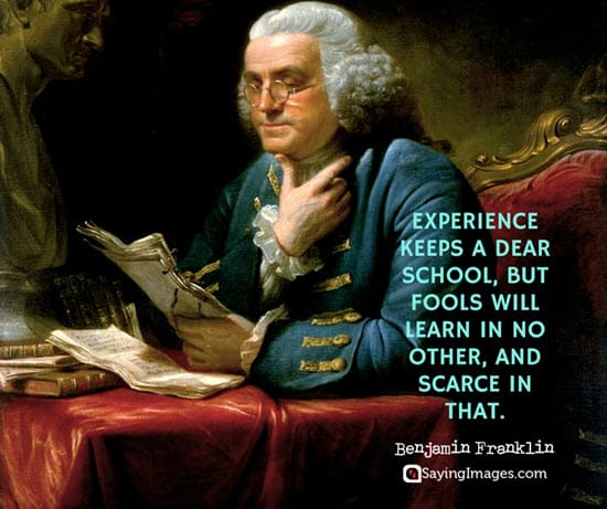 benjamin franklin fool quotes