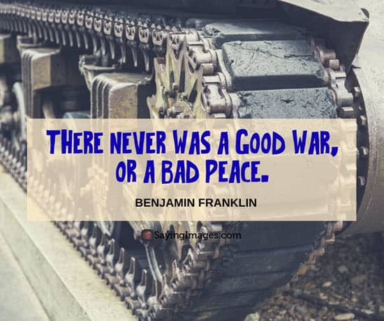 benjamin franklin war quotes