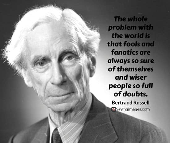 bertrand russell fool quotes