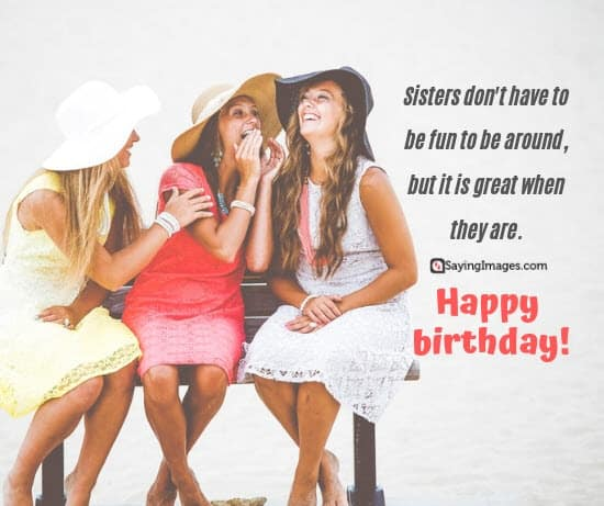 birthday wishes fun sister