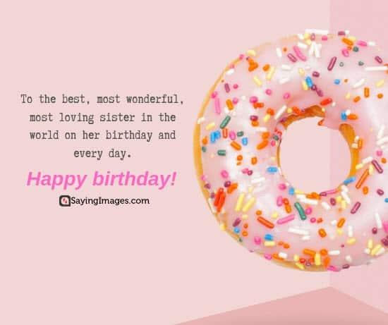birthday wishes loving sister