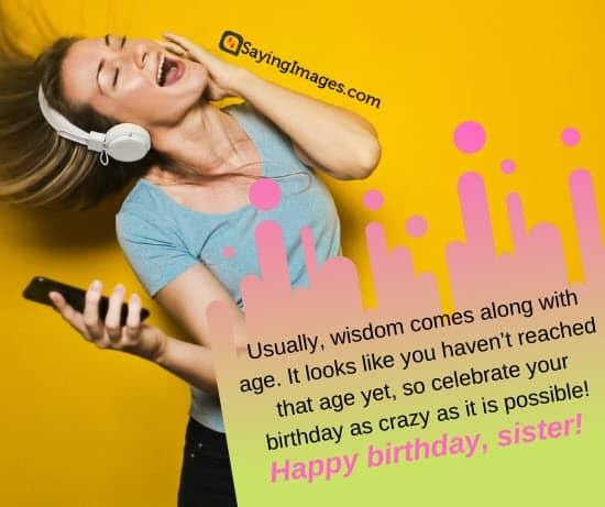 birthday wishes wisdom sister