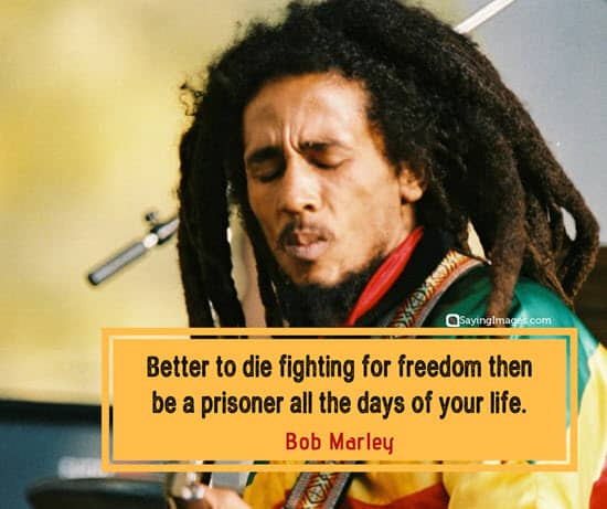 bob marley freedom quotes