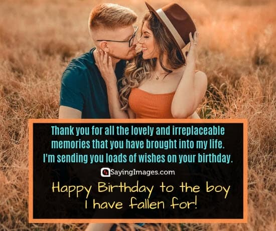 boyfriend birthday memories wishes