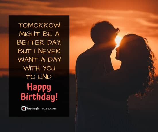 boyfriend birthday tomorrow wishes
