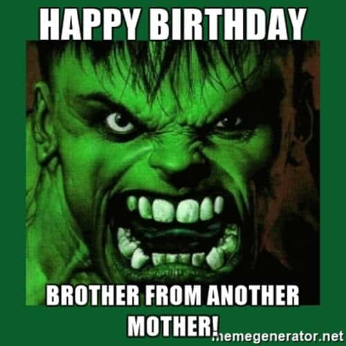brother birthday from another mother meme