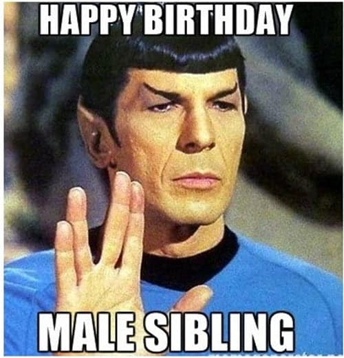 brother birthday male sibling meme