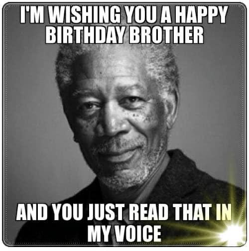 brother birthday voice meme