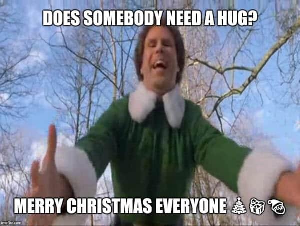 buddy the elf does somebody meme