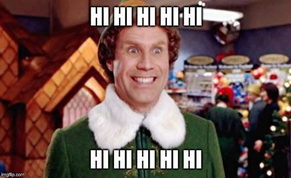 buddy the elf hi meme