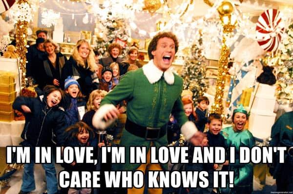buddy the elf im in love meme
