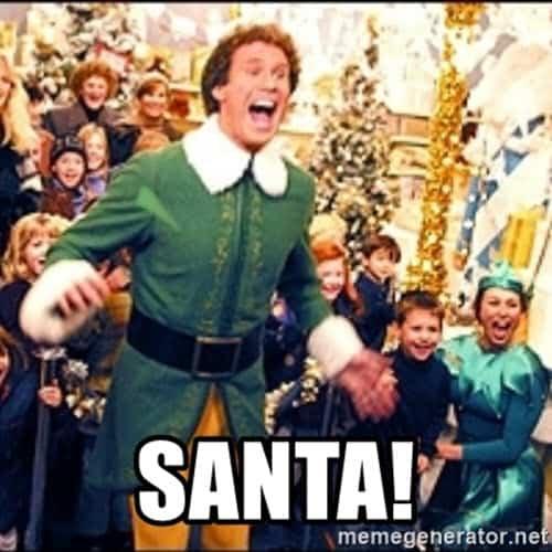 buddy the elf santa meme