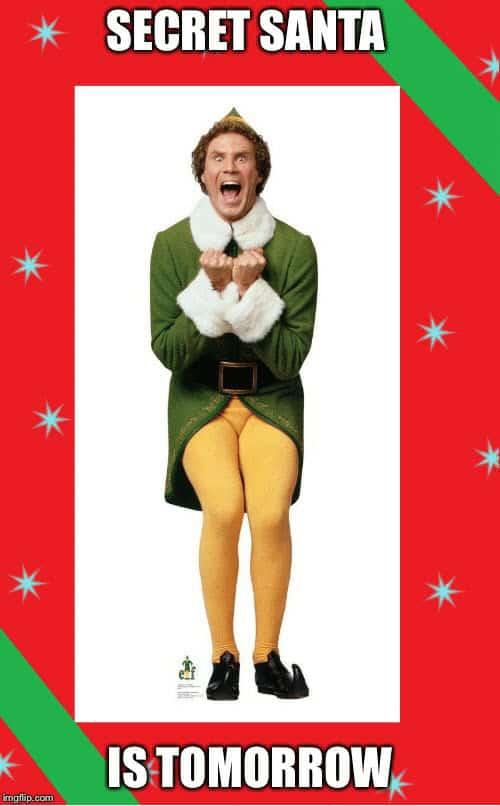 buddy the elf secret santa meme