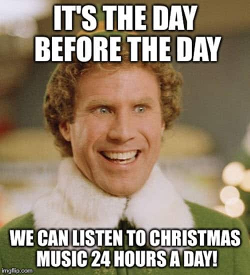 buddy the elf the day before christmas meme