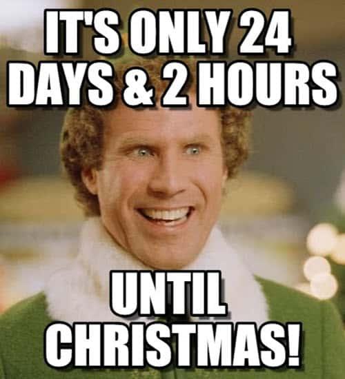 buddy the elf until christmas meme