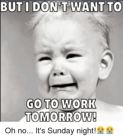 Memes About How We Feel On A Sunday Night SayingImagescom - 20 memes about being at work that are painfully true