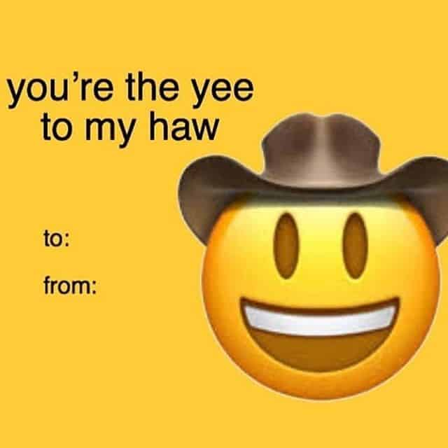 card yeehaw meme