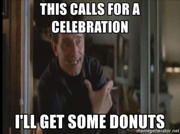 celebration donuts meme