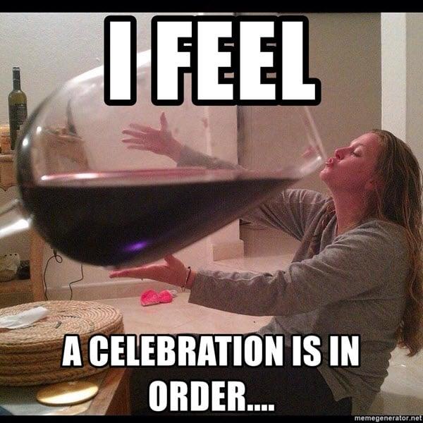 celebration is in order meme