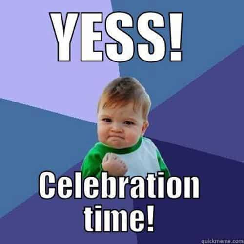 celebration yes meme