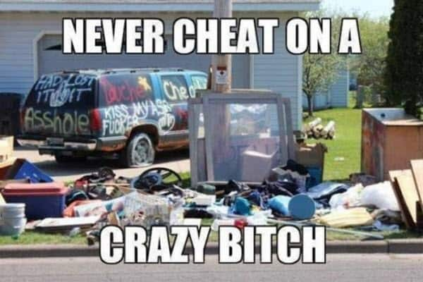 cheating crazy bitch memes