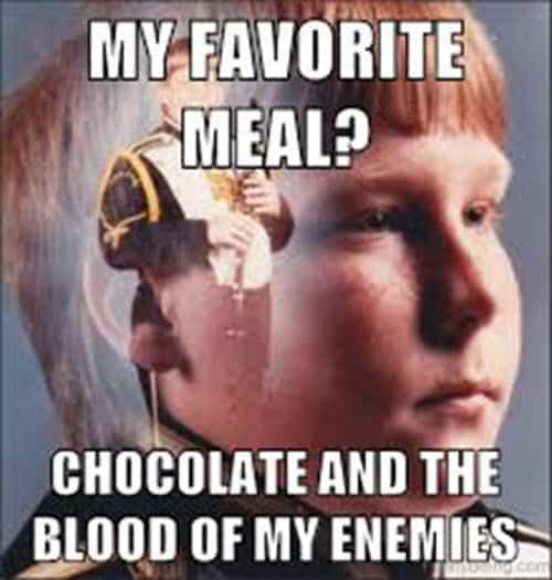 chocolate favorite meal memes