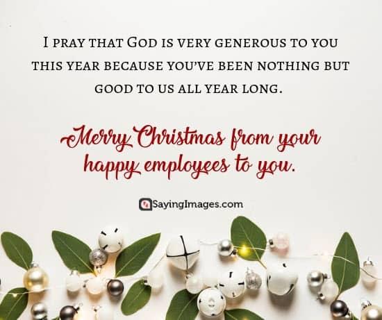 christmas wishes boss generous