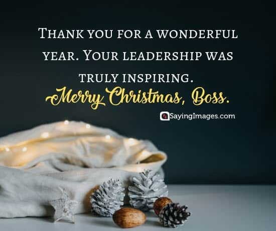christmas wishes boss leadership