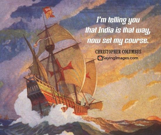 christopher columbus quotes india